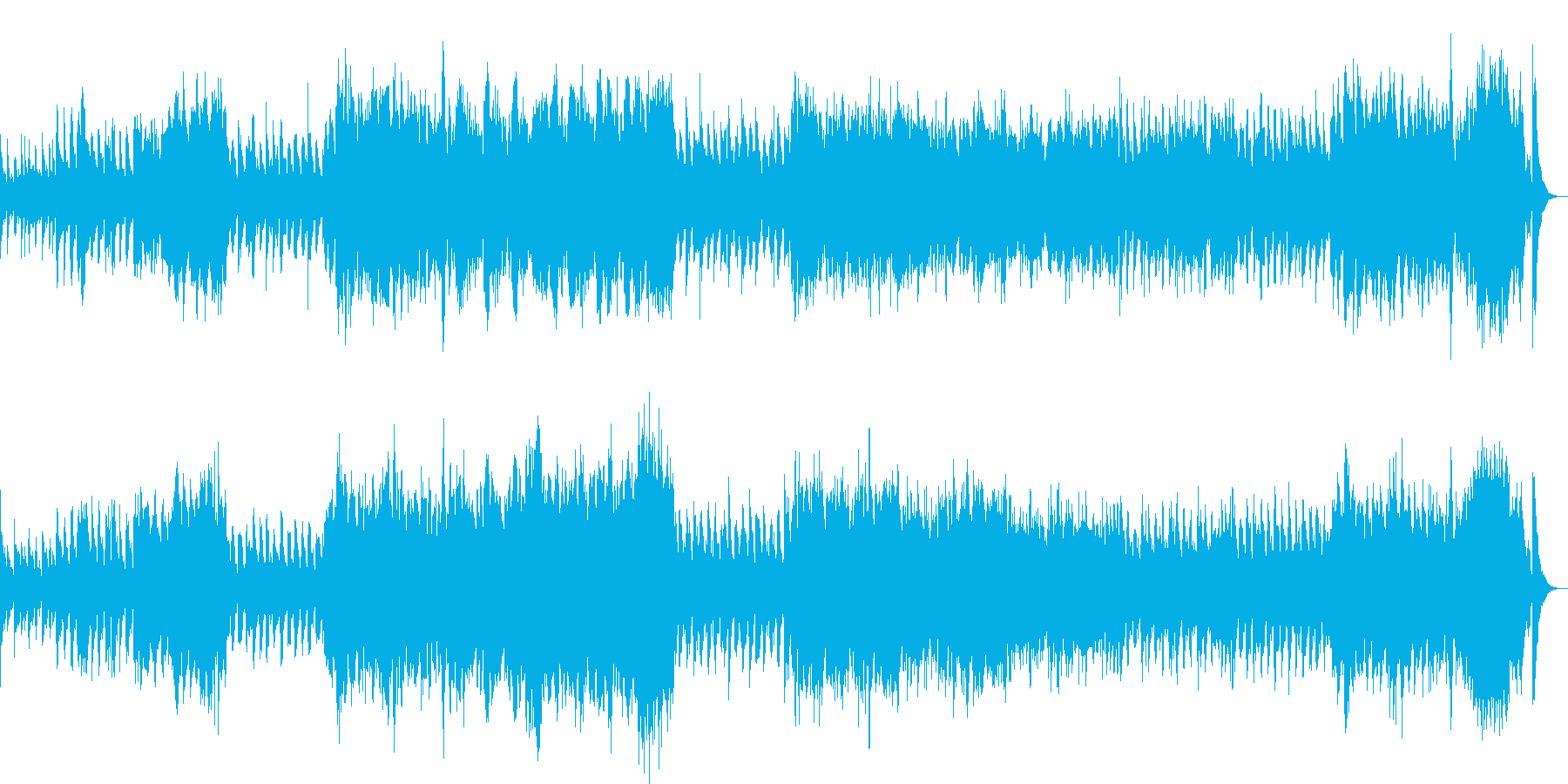 お化けの大行進!(ハロウィンっぽい)の再生済みの波形