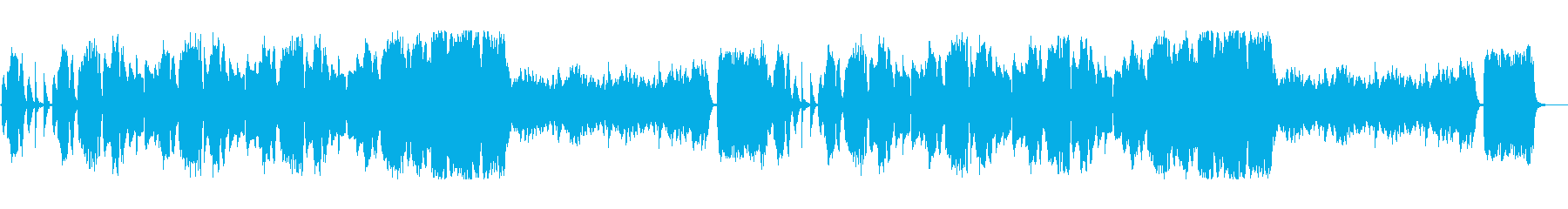 木管楽器を中心とした不気味な曲の再生済みの波形