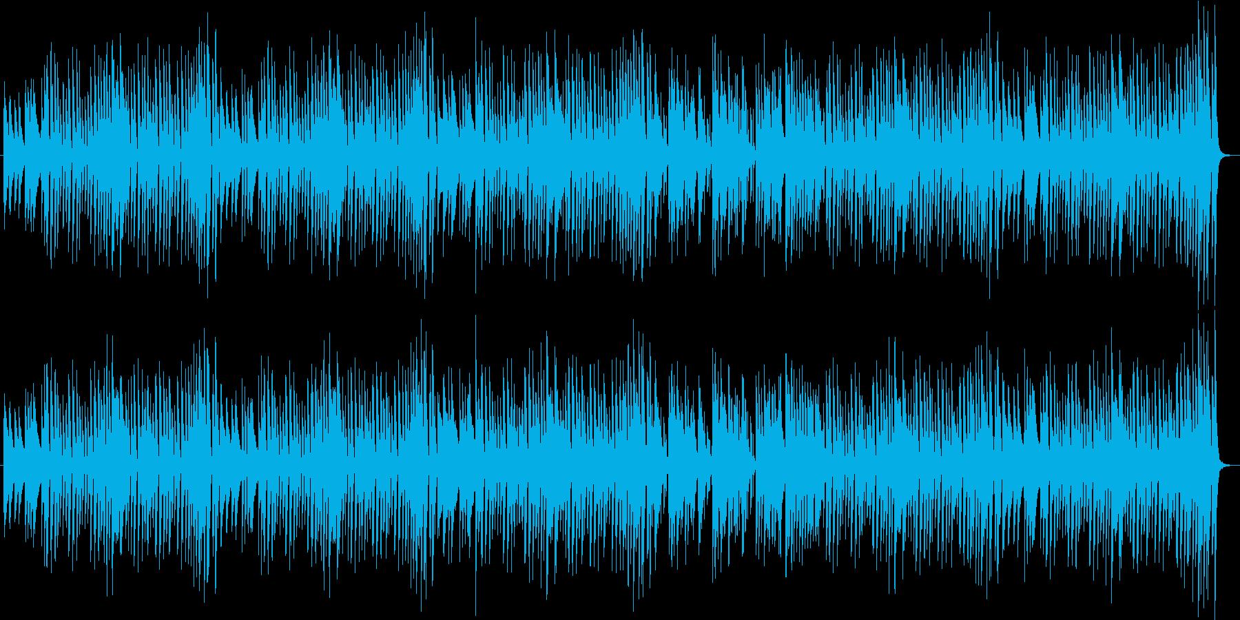 軽快なポップス調の再生済みの波形
