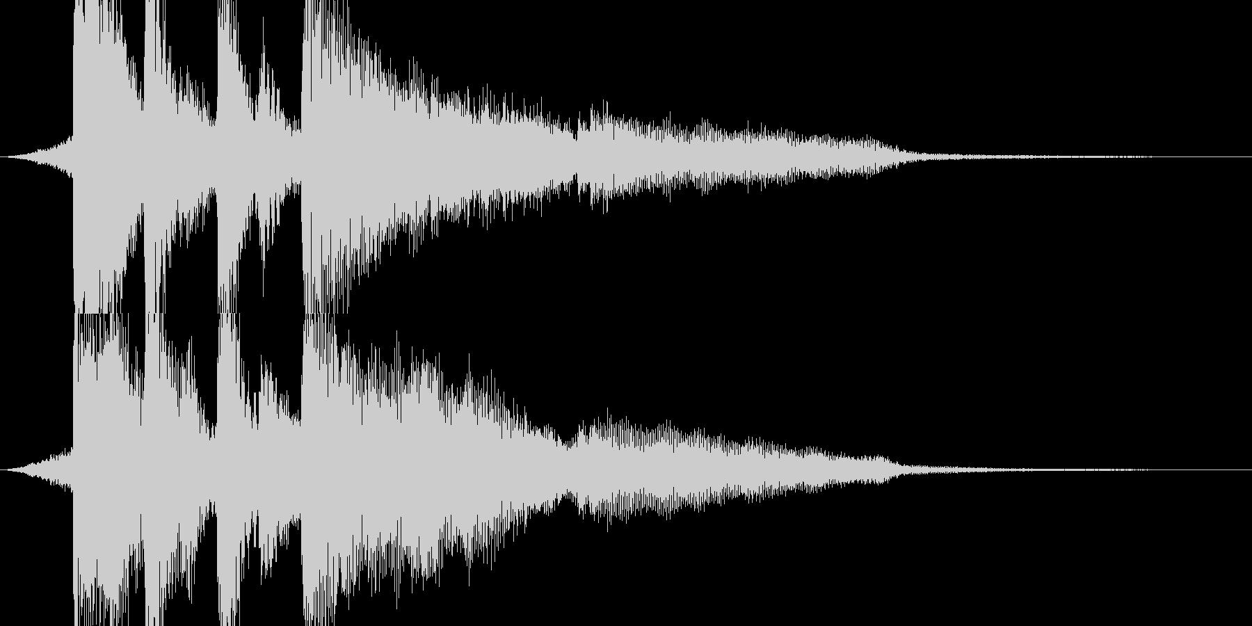 【ジングル】弦とピアノのお洒落なジングルの未再生の波形