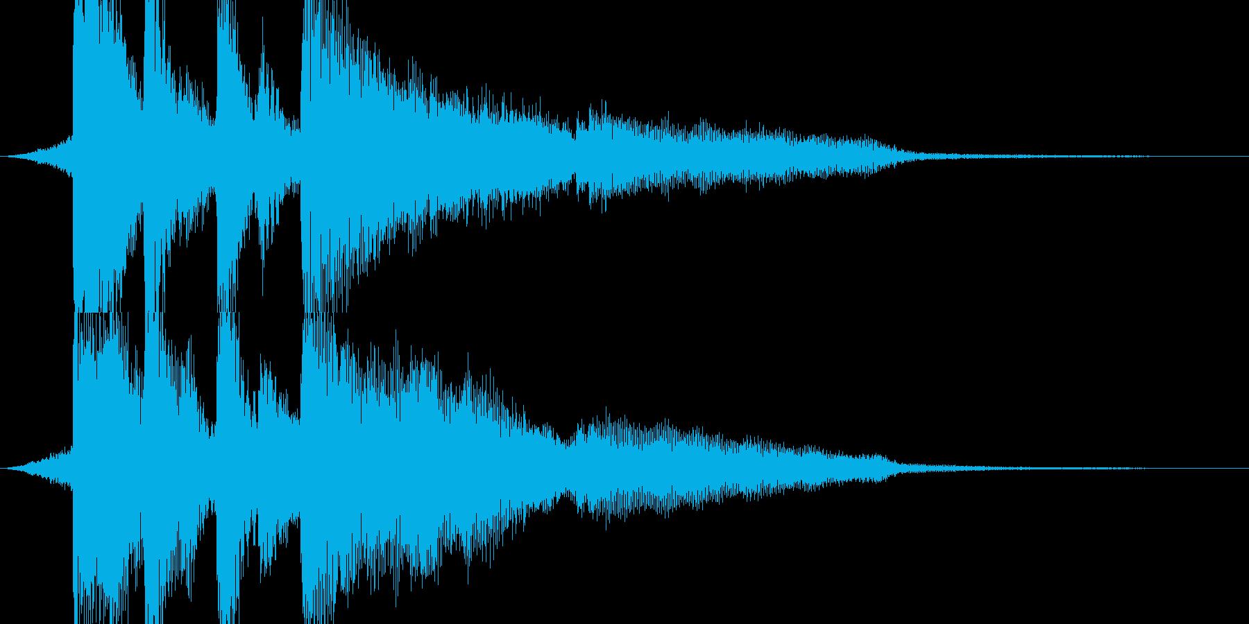 【ジングル】弦とピアノのお洒落なジングルの再生済みの波形