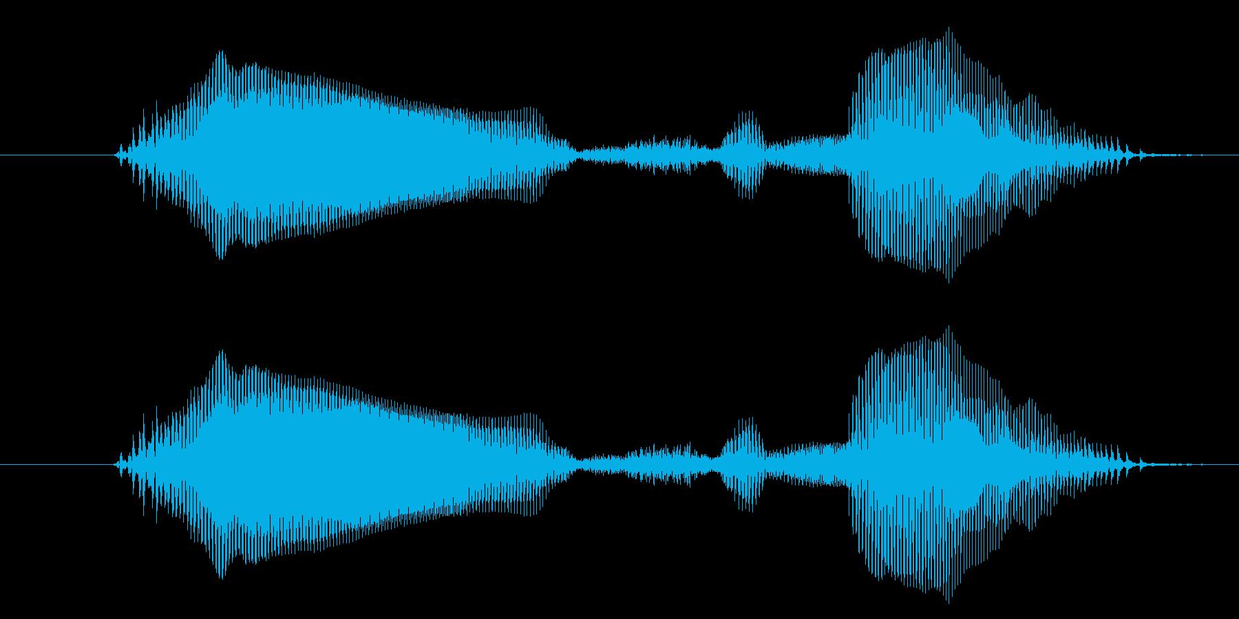 おしまいの再生済みの波形