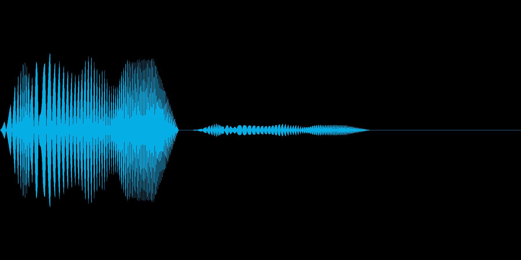 タッチ音などに使えるポワッという水泡の…の再生済みの波形