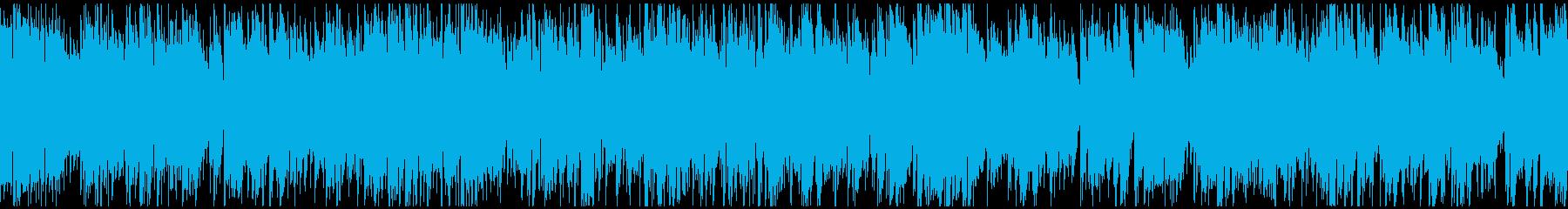 わくわくする高揚感あるジャズ ※ループ版の再生済みの波形