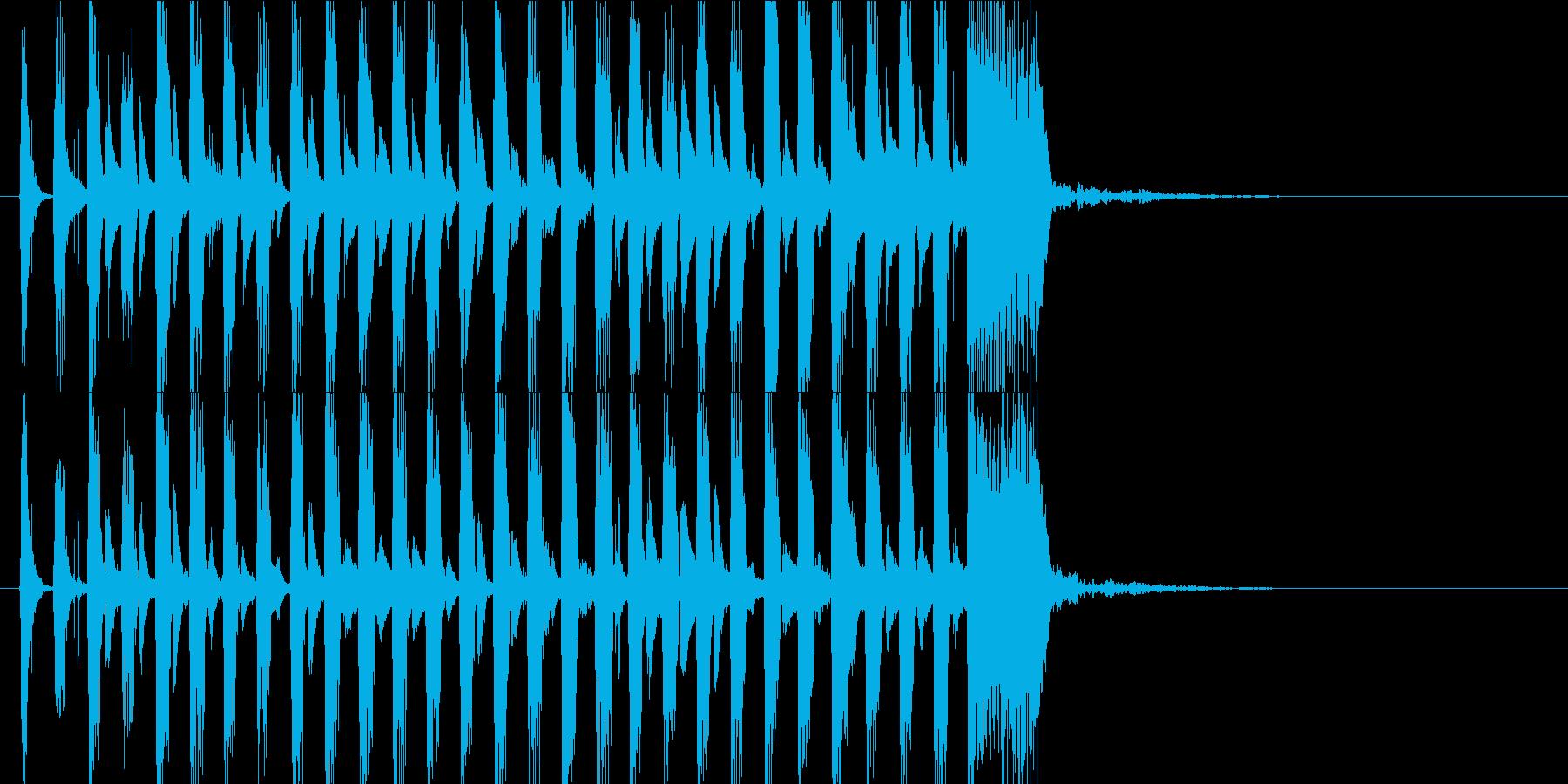 かわいいジングル ゲーム系のゆるかわの再生済みの波形