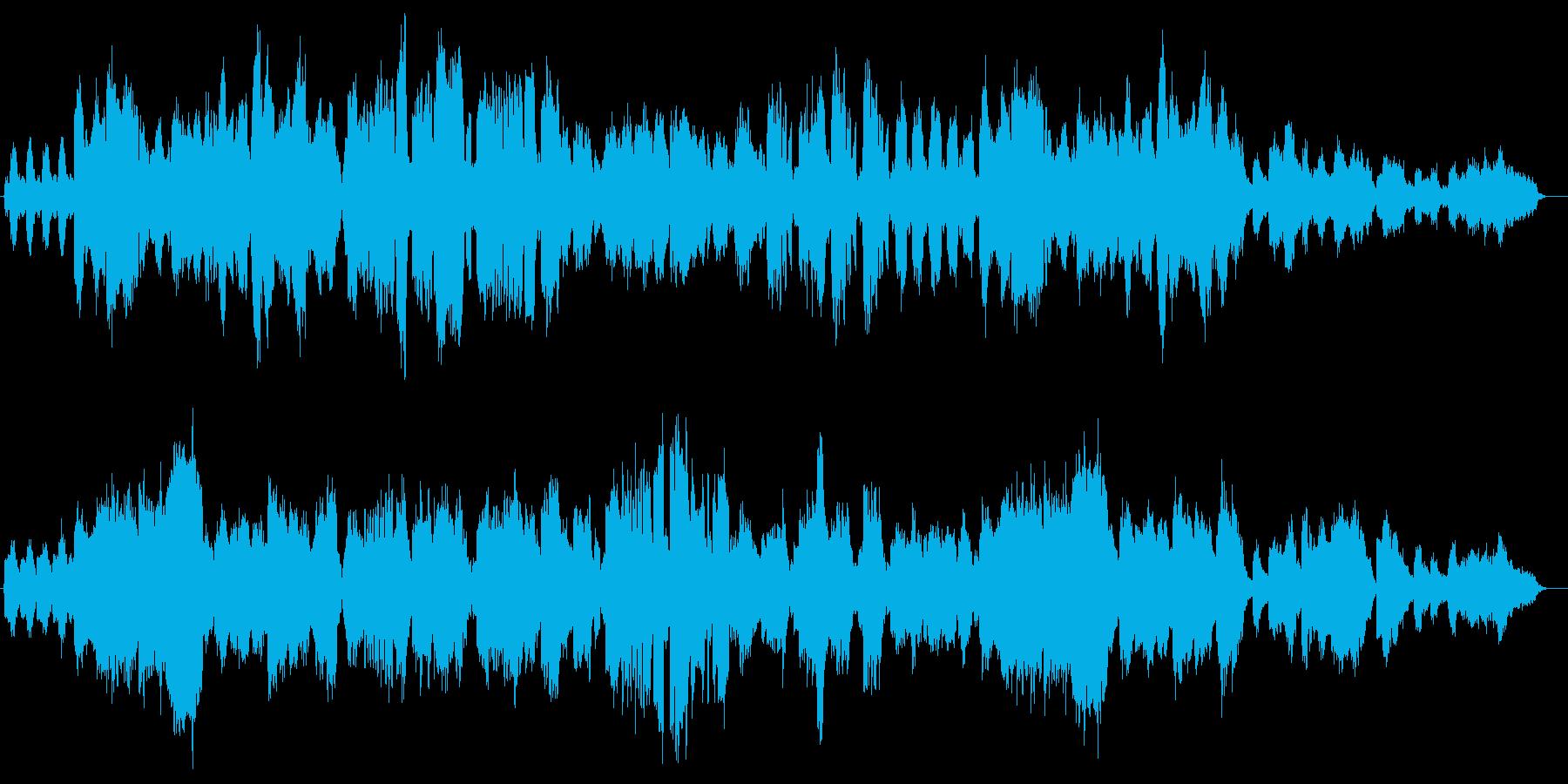 ミステリアスなバイオリン・オルガンなどの再生済みの波形