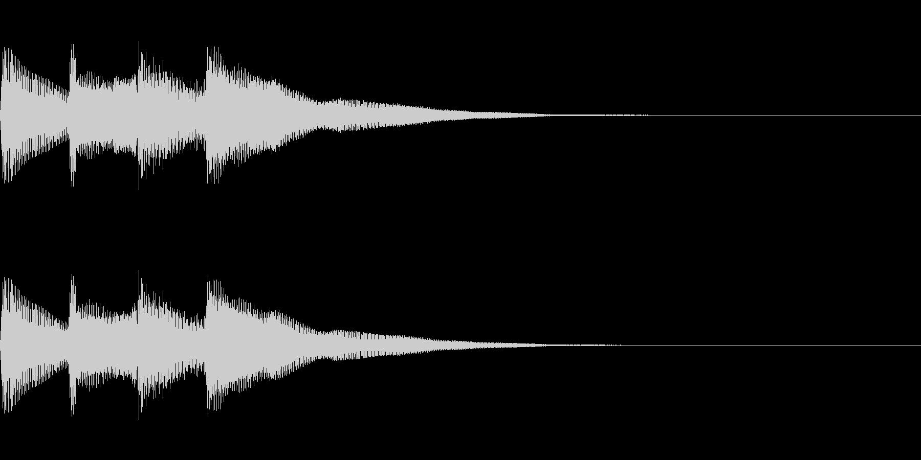 正解 2B 明るい音色 ピポピポーンの未再生の波形