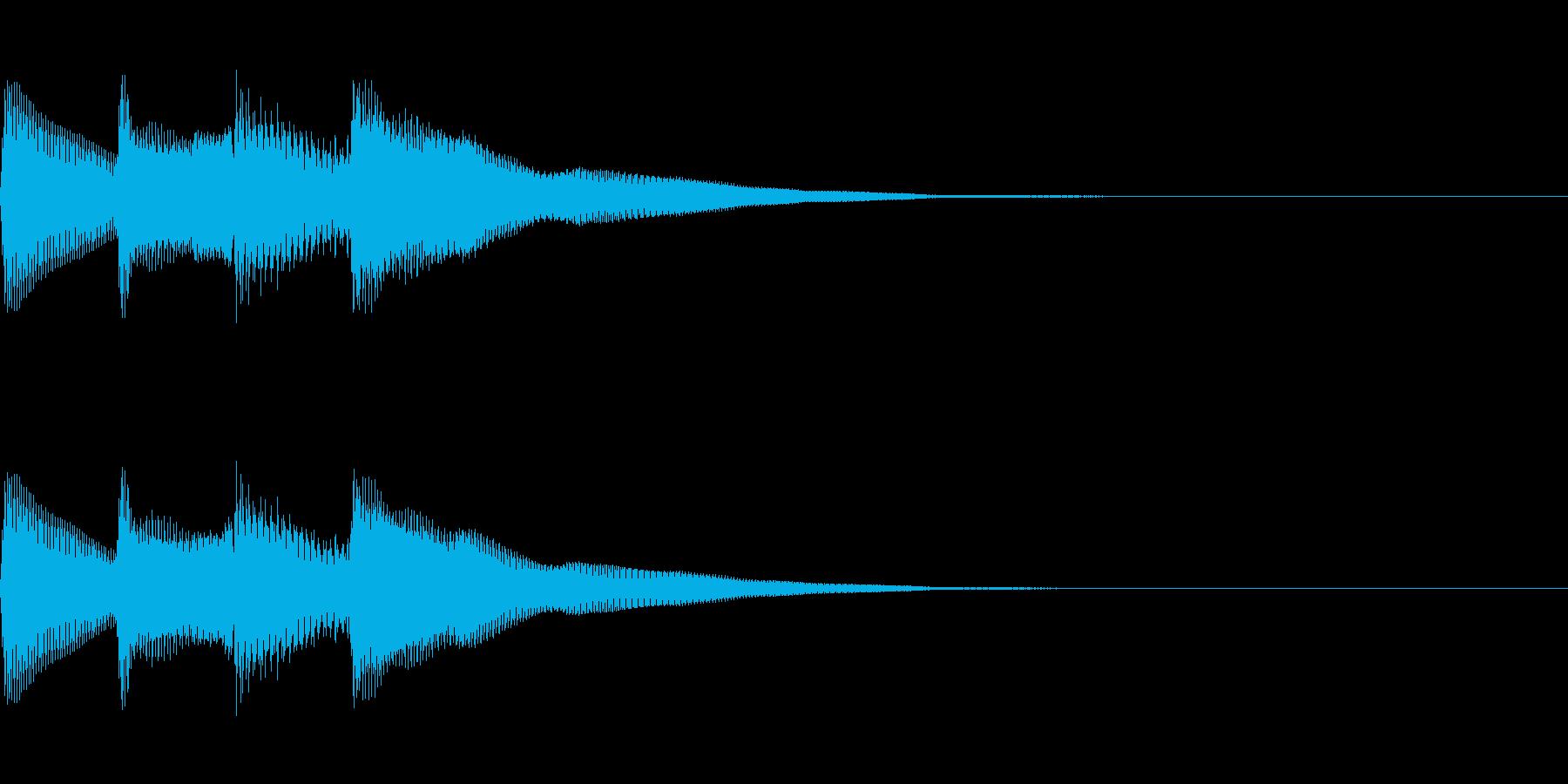 正解 2B 明るい音色 ピポピポーンの再生済みの波形