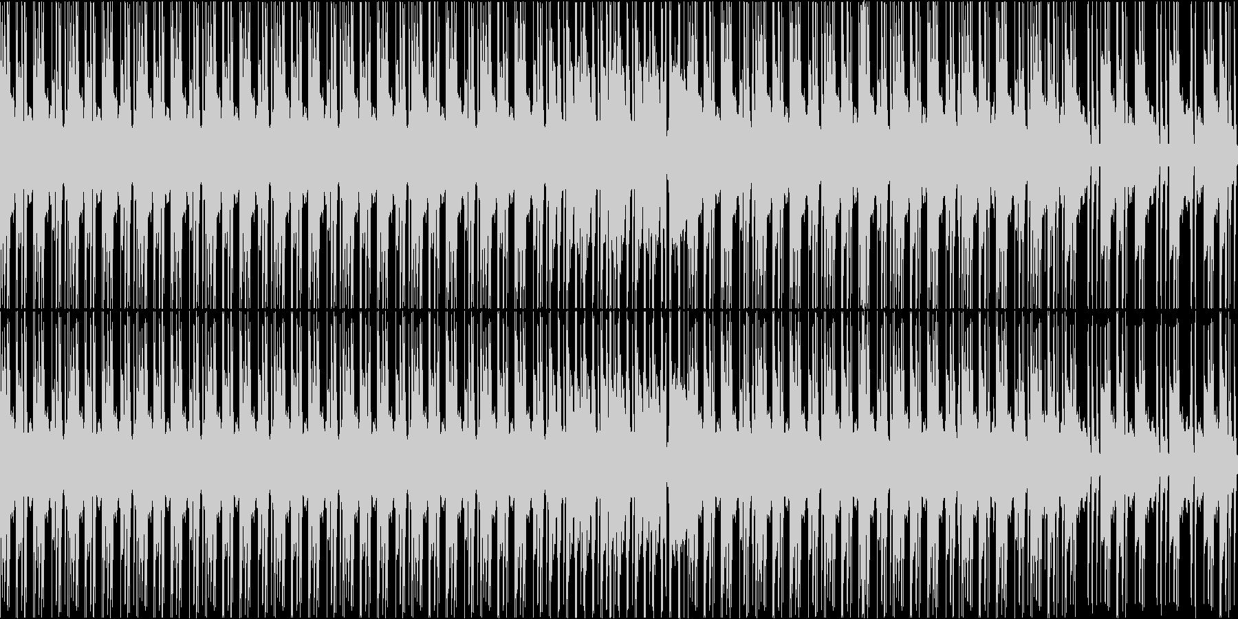 ヒップホップでジャジーなBGM_LOOPの未再生の波形