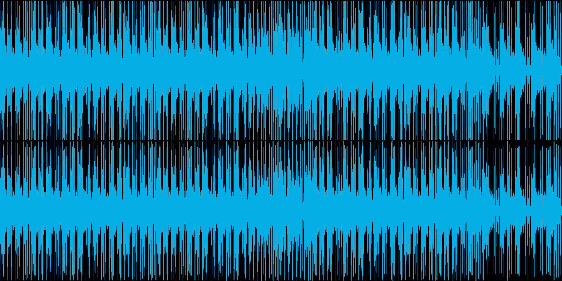 ヒップホップでジャジーなBGM_LOOPの再生済みの波形