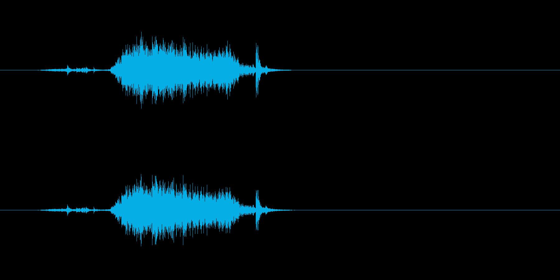 【カーテン02-3】の再生済みの波形