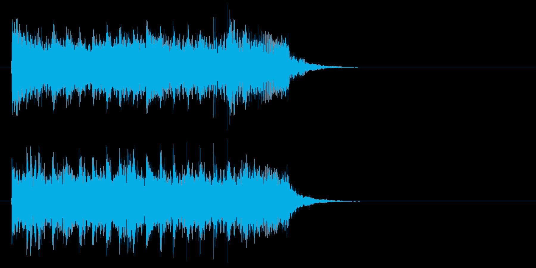 ジングル(怪しげなオーケストレーション)の再生済みの波形