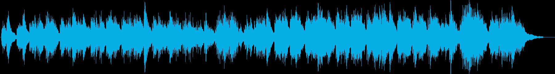 神話・ファンタジーなケルトハープと笛の再生済みの波形