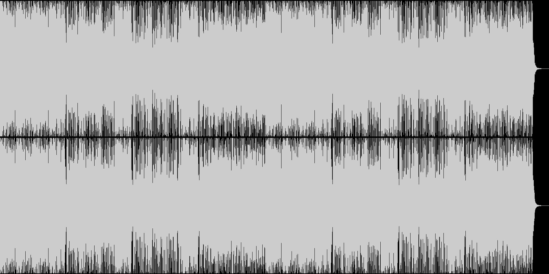 冬が近づいてきているイメージの曲の未再生の波形