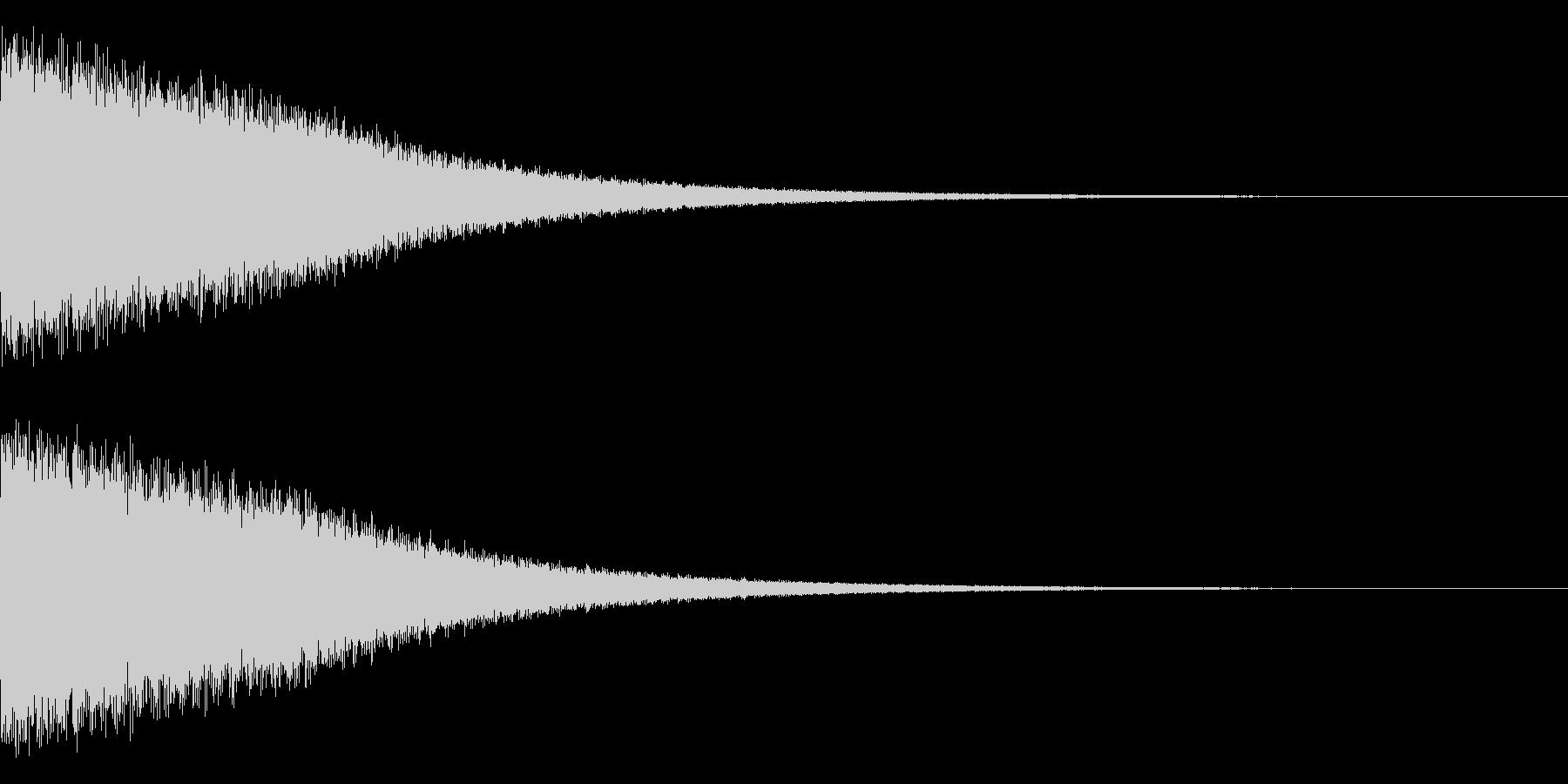 ピーーーーーーーーーン(ベル)の未再生の波形