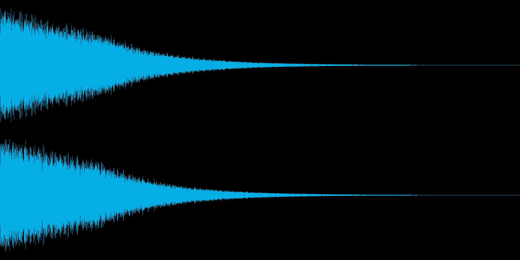 ピーーーーーーーーーン(ベル)の再生済みの波形