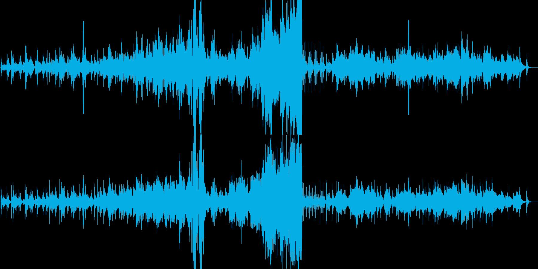 ハープとストリングスのまったり穏やか音楽の再生済みの波形