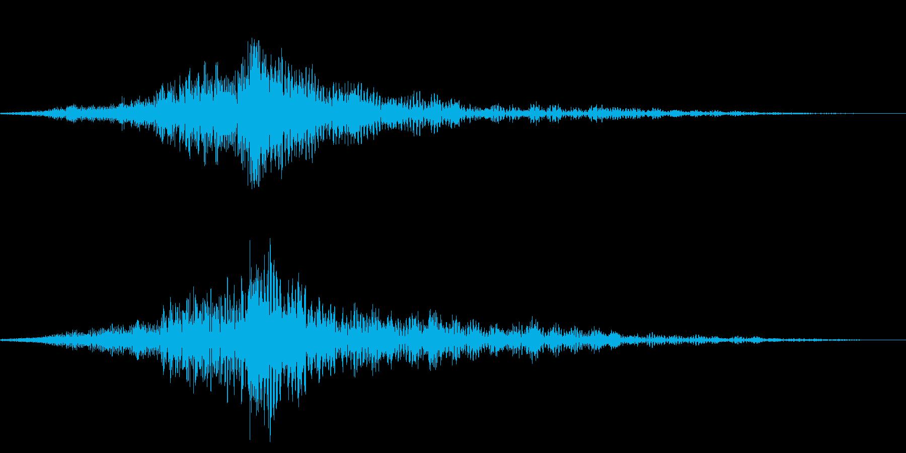 ホラー系アタック音106の再生済みの波形