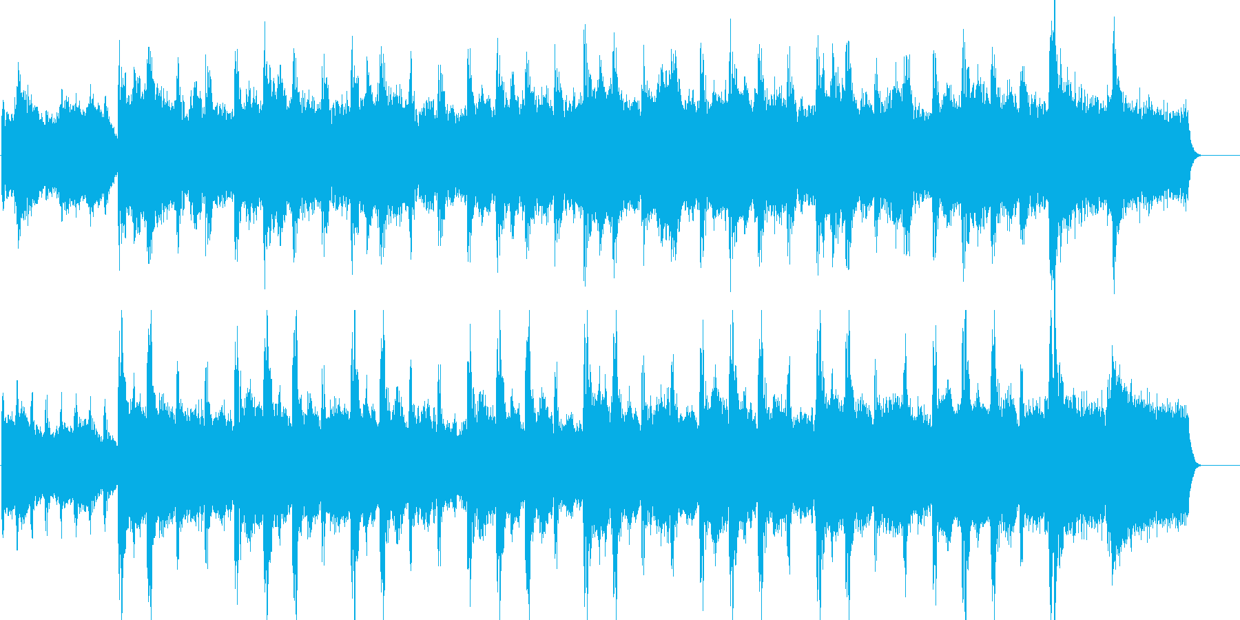 上品で優雅な雰囲気のストリングス曲の再生済みの波形