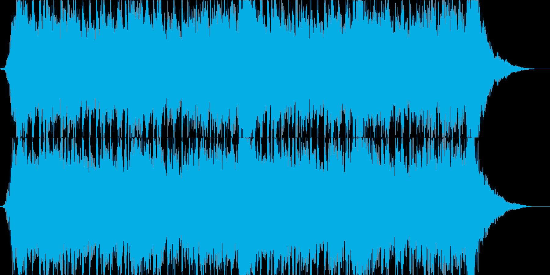 企業PVや会社紹介 軽快なオーケストラの再生済みの波形