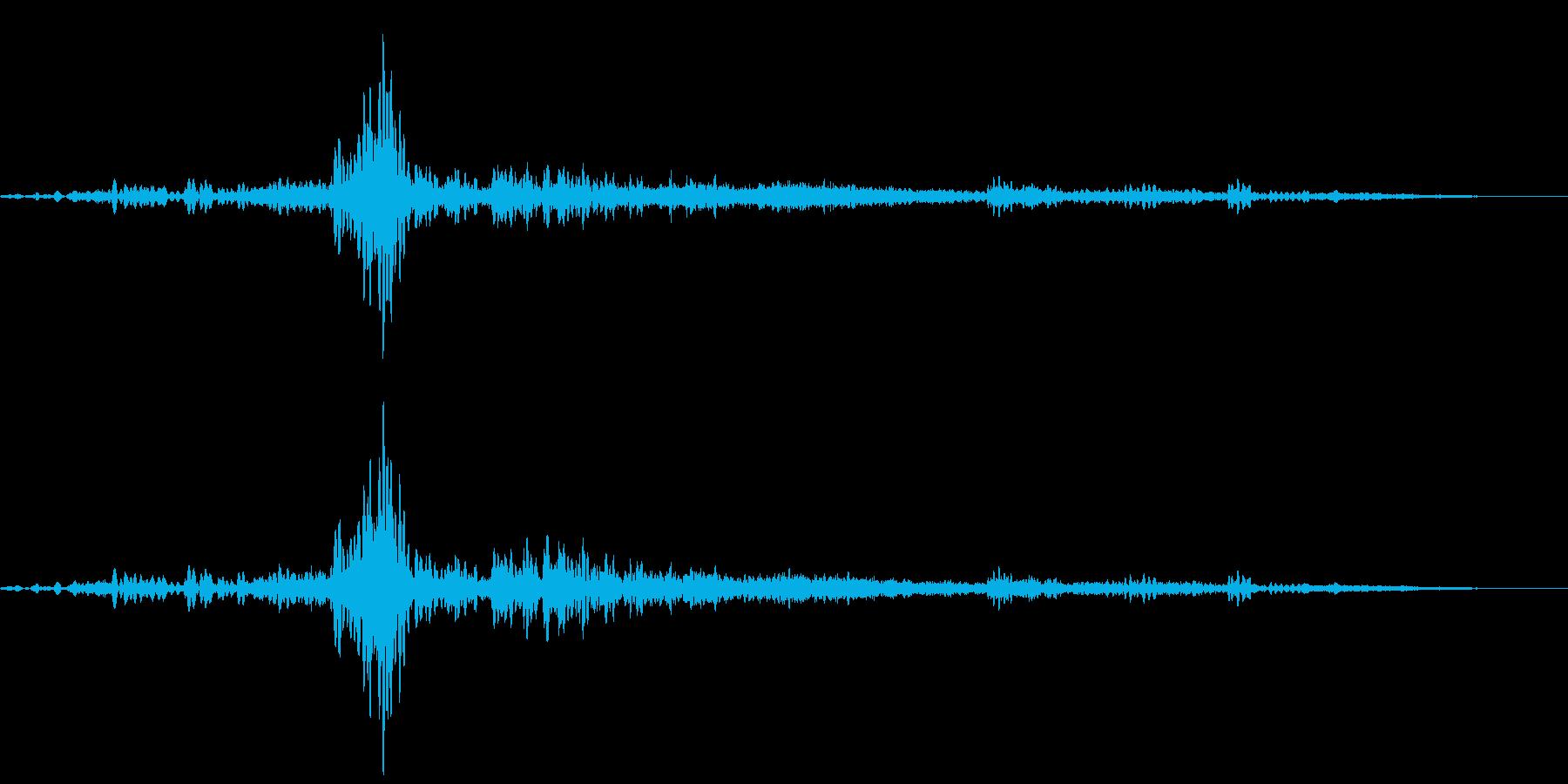 ふすまを普通に開けるの再生済みの波形