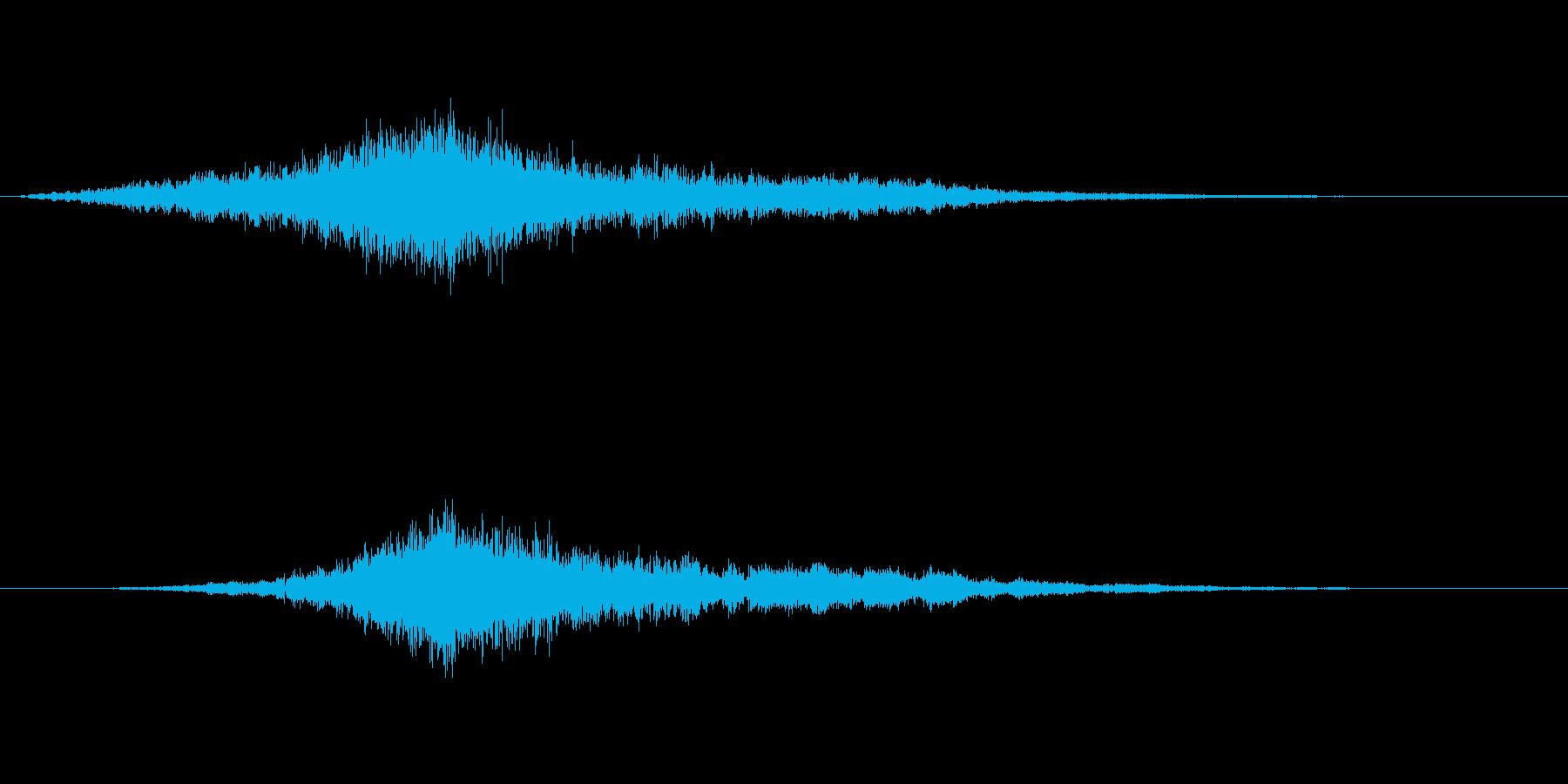 映画でよくあるライズヒットなサウンドロゴの再生済みの波形
