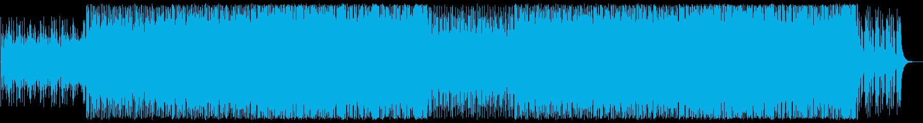 ピアノのラテン系ポップスの再生済みの波形
