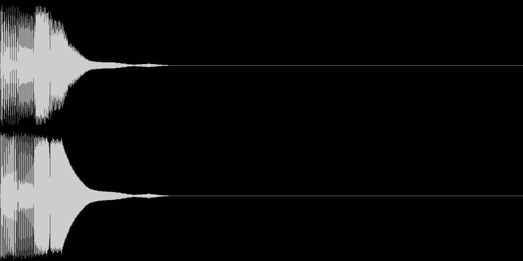 ボタン音01(ピコッ)の未再生の波形
