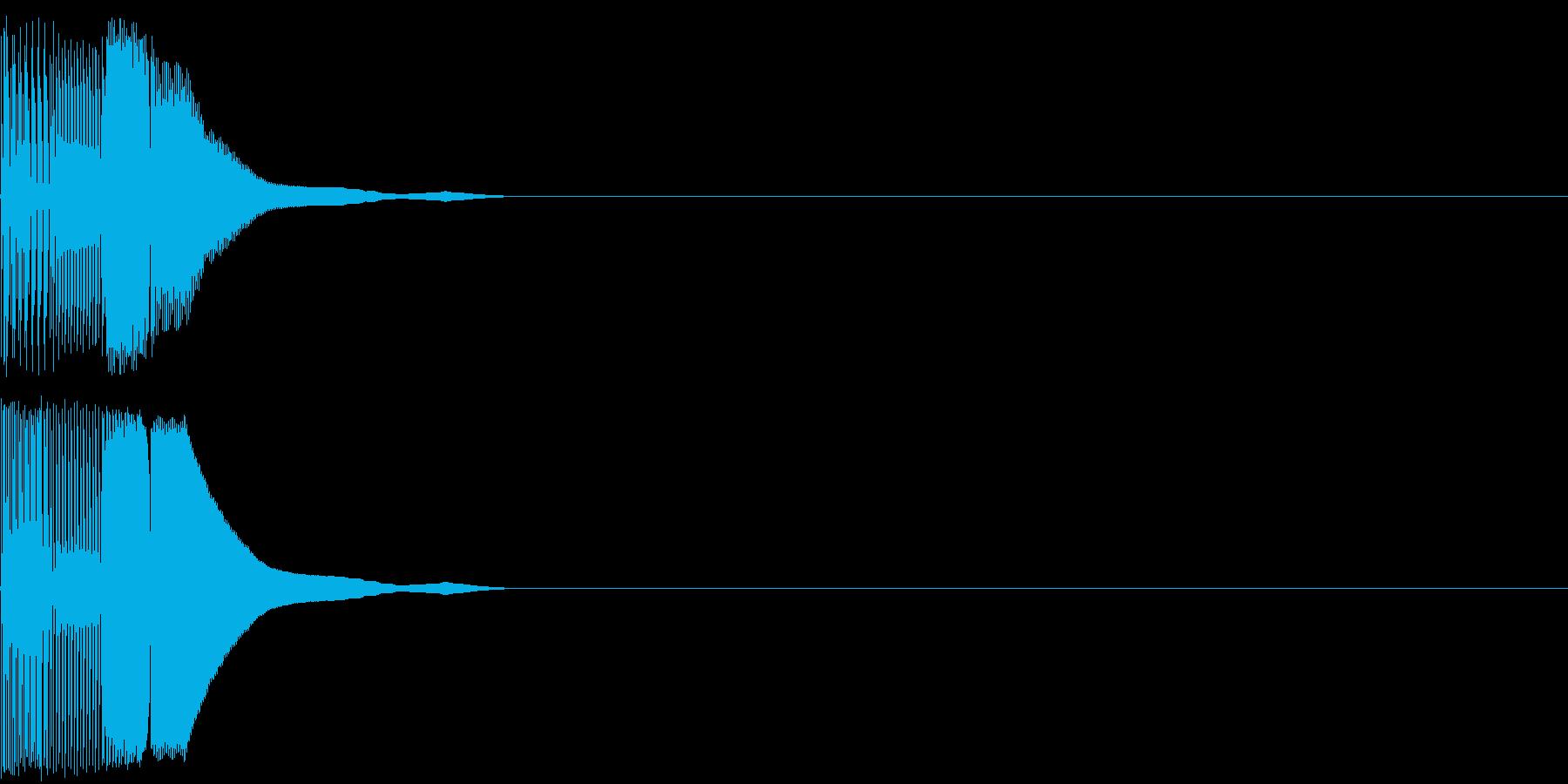 ボタン音01(ピコッ)の再生済みの波形