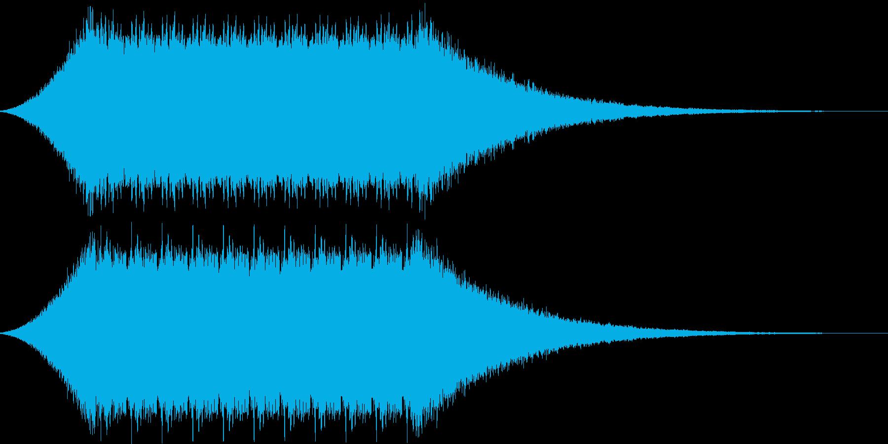 お昼のサイレン タイプBの再生済みの波形
