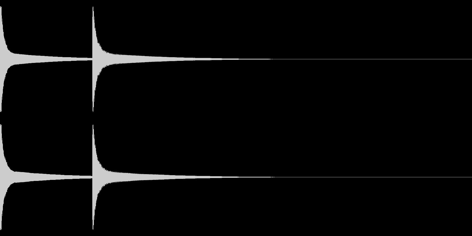 ブザー音01(ピンポン)の未再生の波形