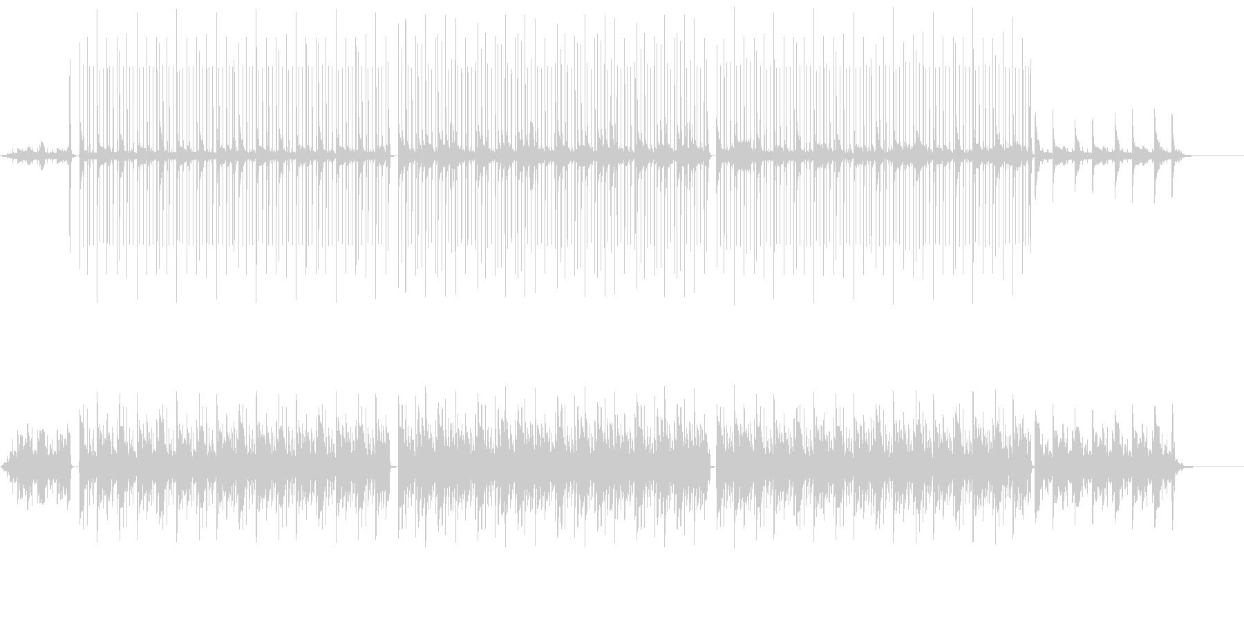 ダークな雰囲気のピアノ曲の未再生の波形
