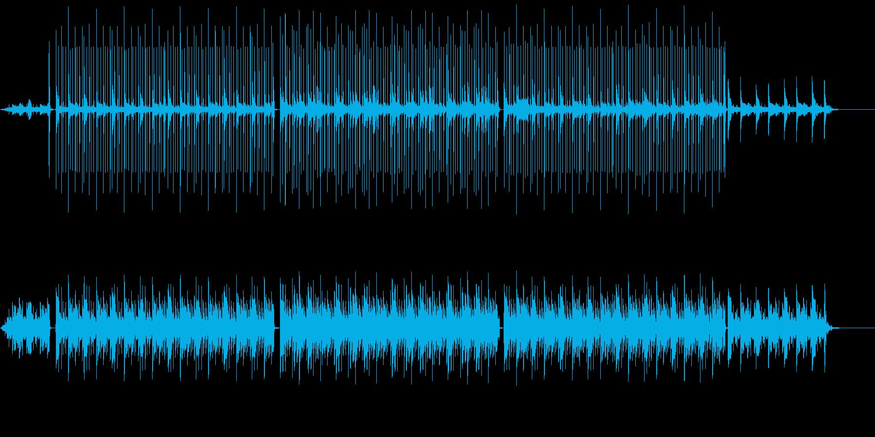 ダークな雰囲気のピアノ曲の再生済みの波形