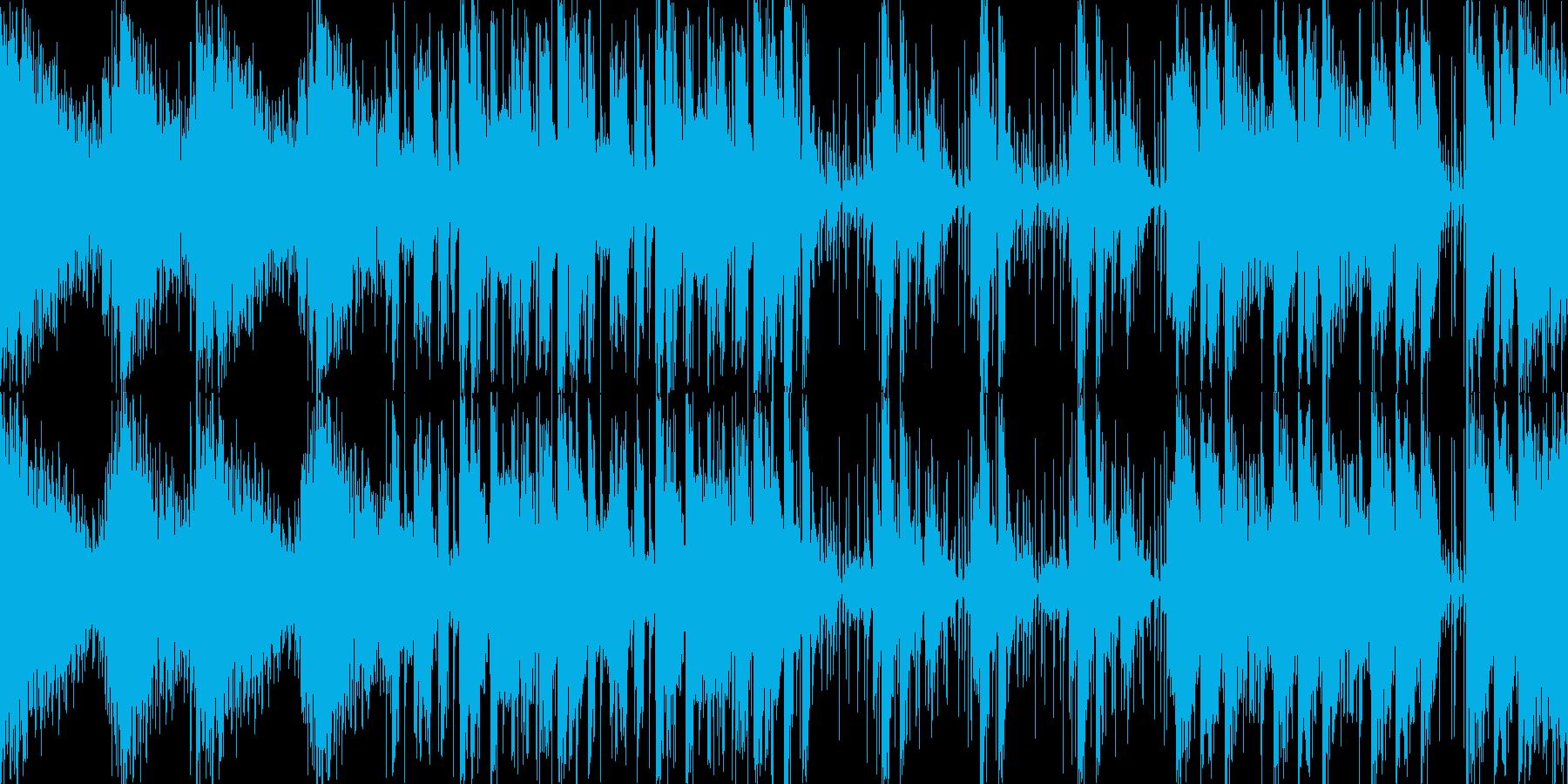 敵基地などのBGMに適した緊迫したBGMの再生済みの波形