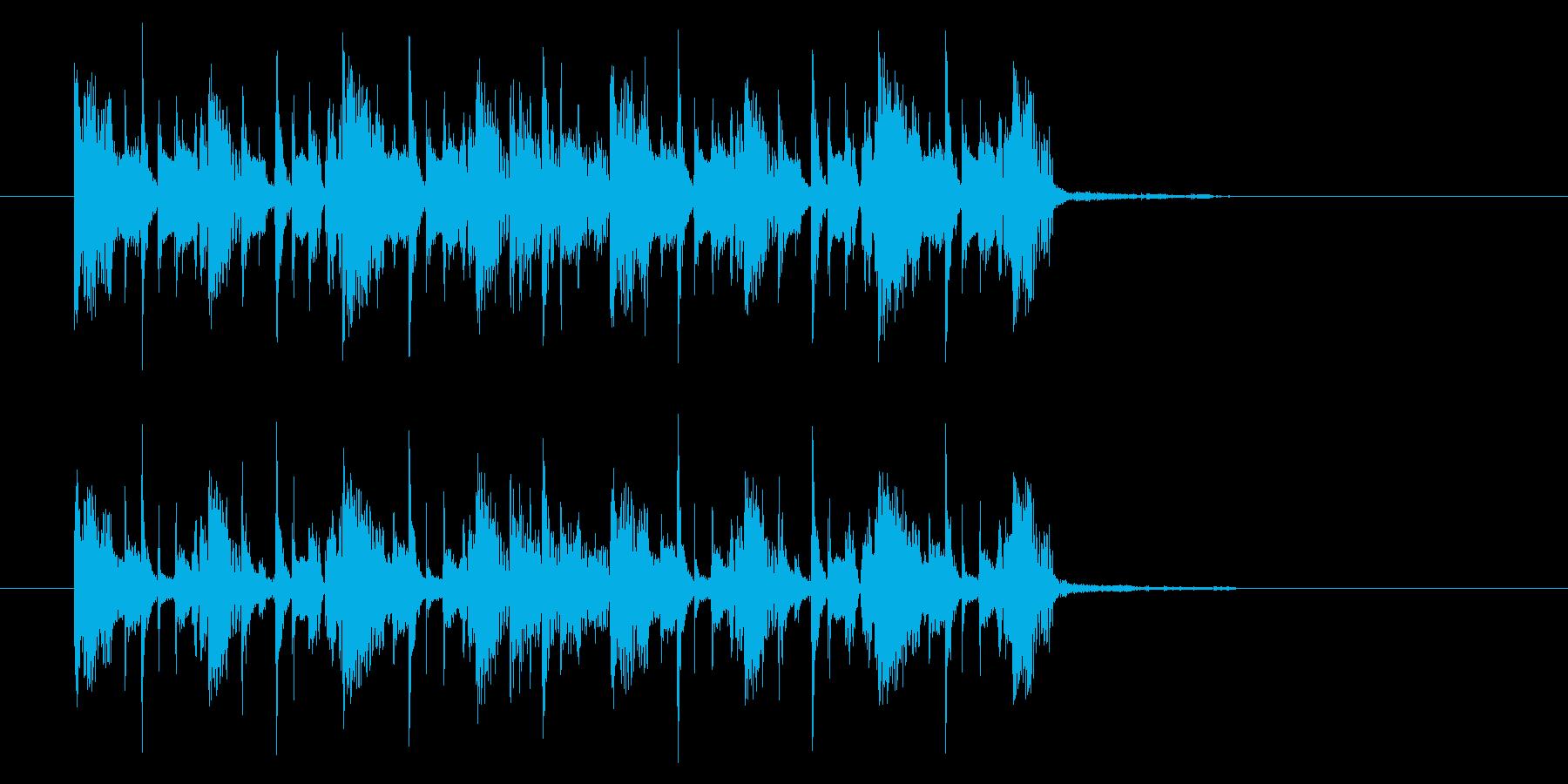 シンプルでテクニカルなシンセジングルの再生済みの波形