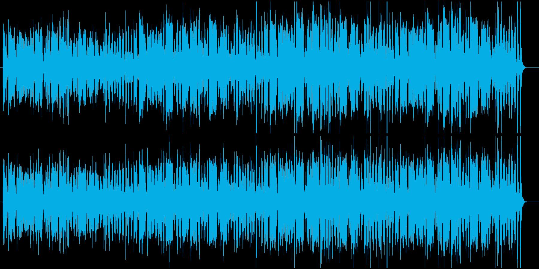 ブギウギ風の陽気なBGMの再生済みの波形