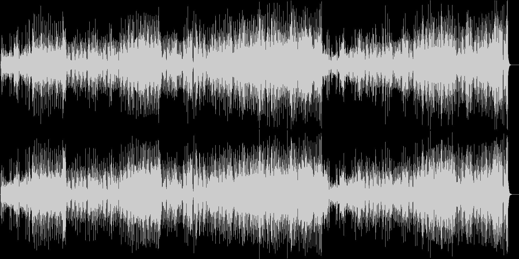 艶のある澄んだ旋律のピアノ・フュージョンの未再生の波形