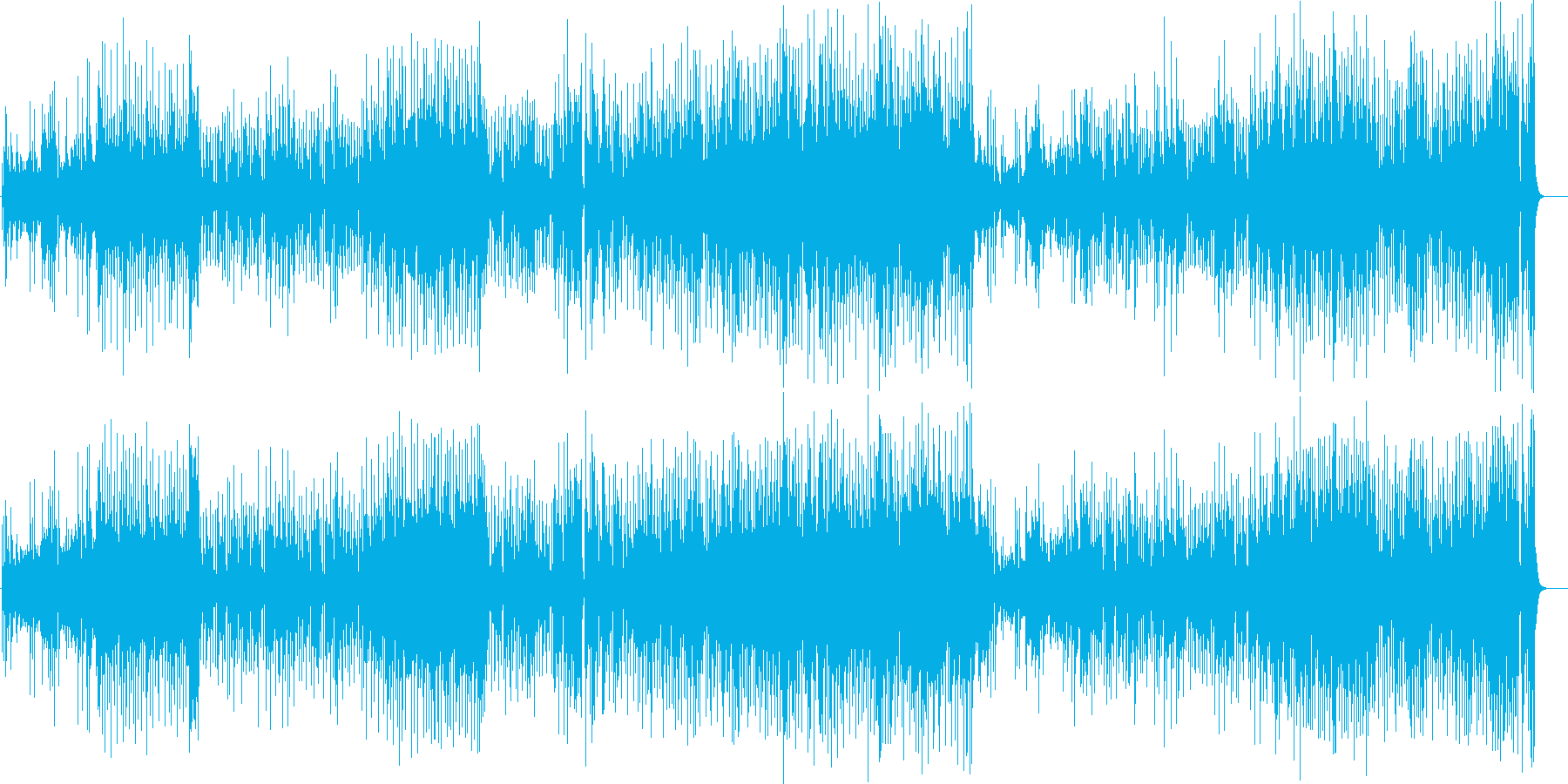 艶のある澄んだ旋律のピアノ・フュージョンの再生済みの波形