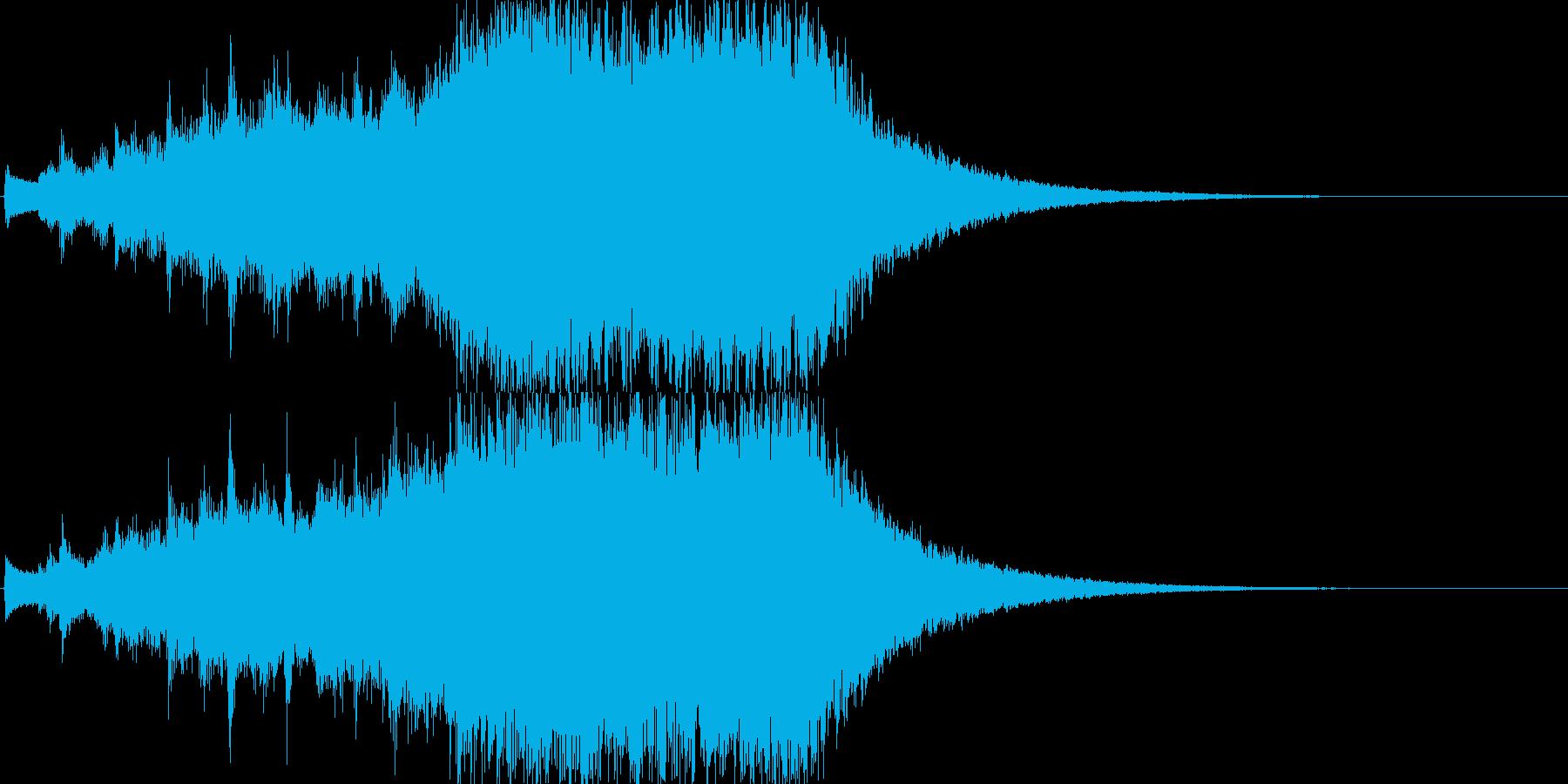星空・天の川イメージのジングルの再生済みの波形