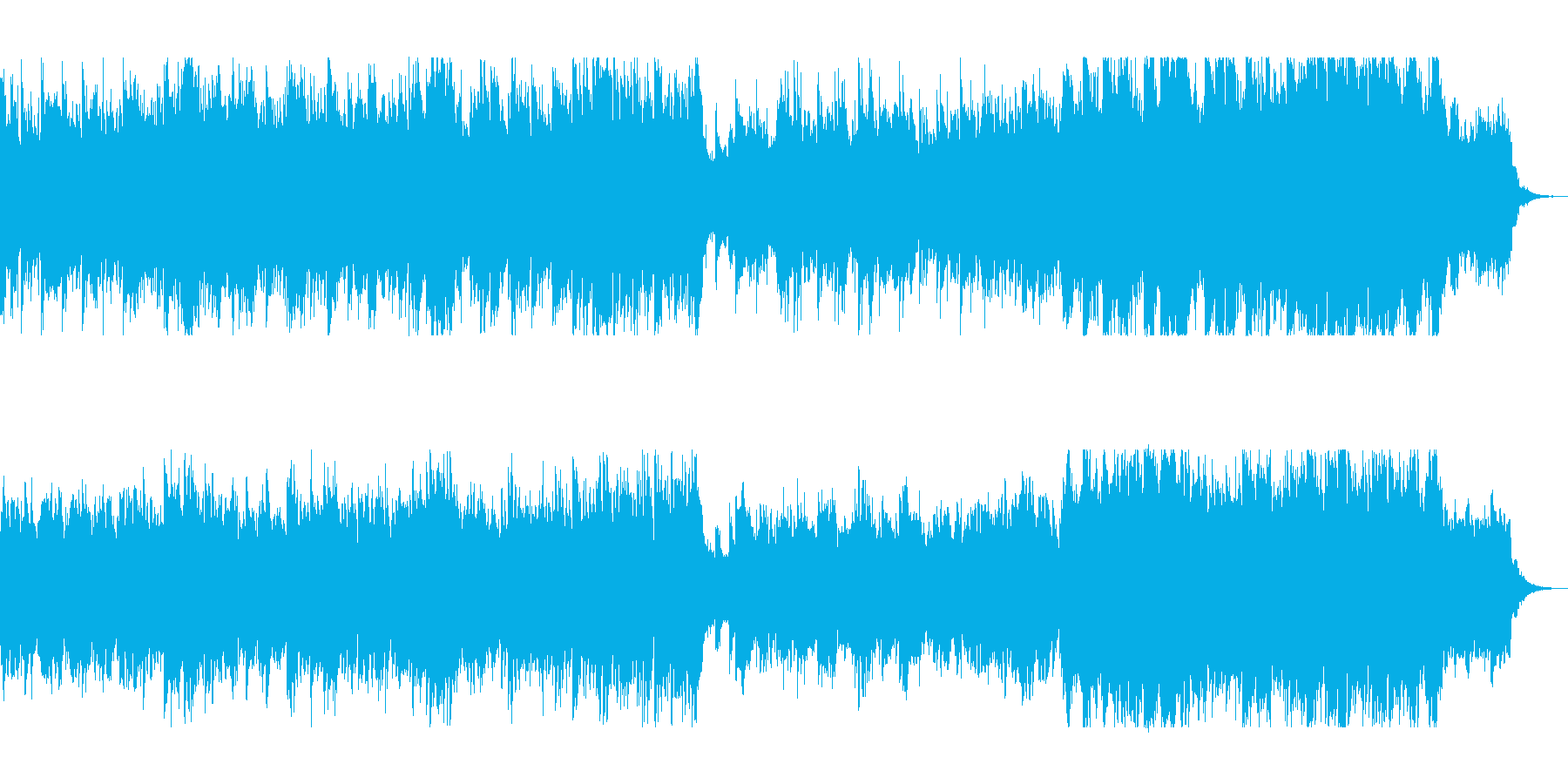 失恋や男女のすれ違いを連想させるピアノ曲の再生済みの波形
