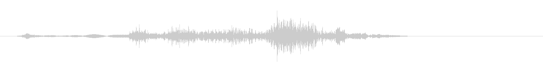 クルマ・ドアロック音の未再生の波形
