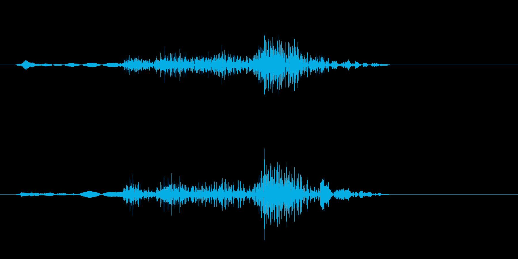 クルマ・ドアロック音の再生済みの波形