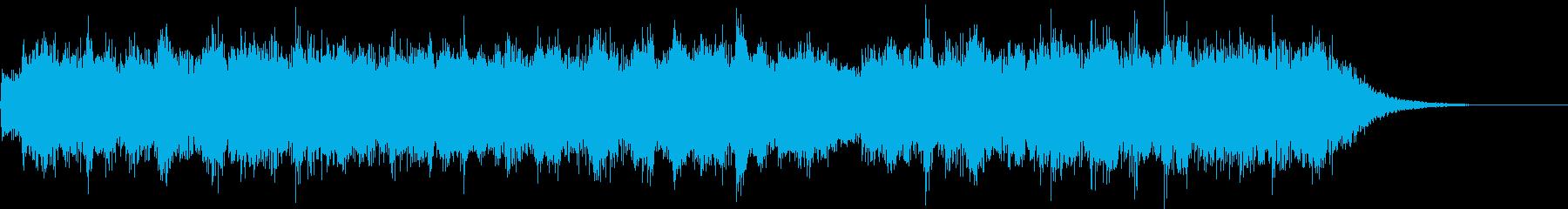 ニューエイジ風でミニマルなシンセジングルの再生済みの波形