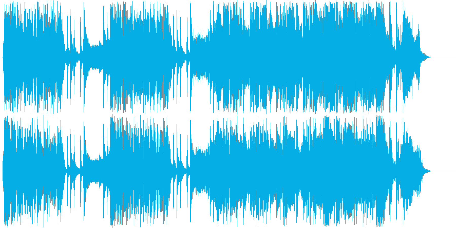 迫力のあるドラム・ギターサウンド短めの再生済みの波形