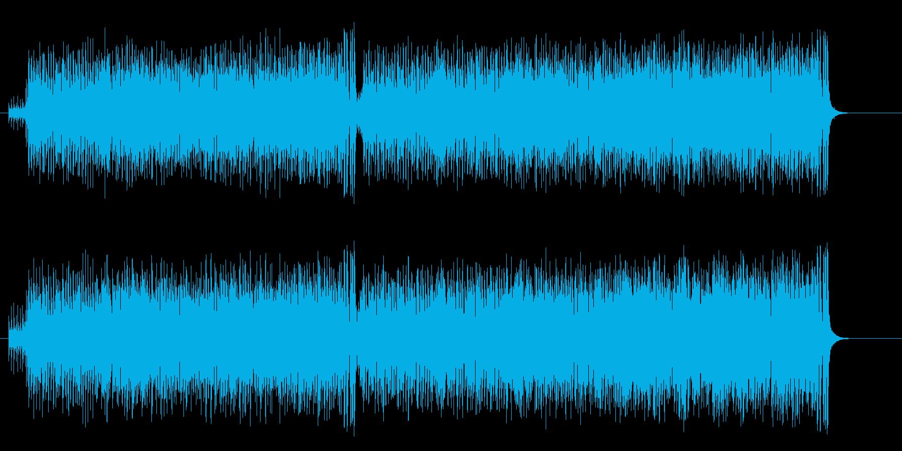 どたばたコメディー調アップテンポなサンバの再生済みの波形