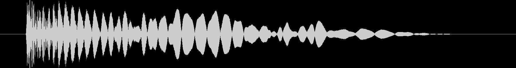 ドスッ(落ち物ゲームの落下衝突音)の未再生の波形