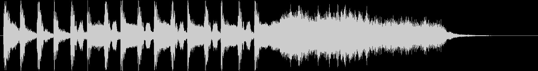 ミステリアスな音階のピアノの効果音の未再生の波形