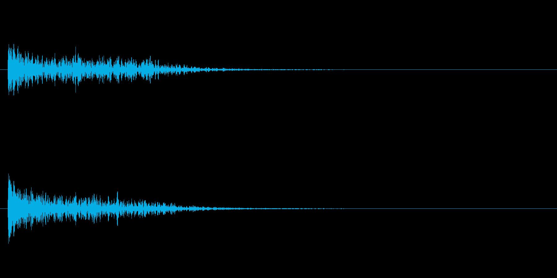 トーナルボタン1・始まりのロゴ・ビーンの再生済みの波形