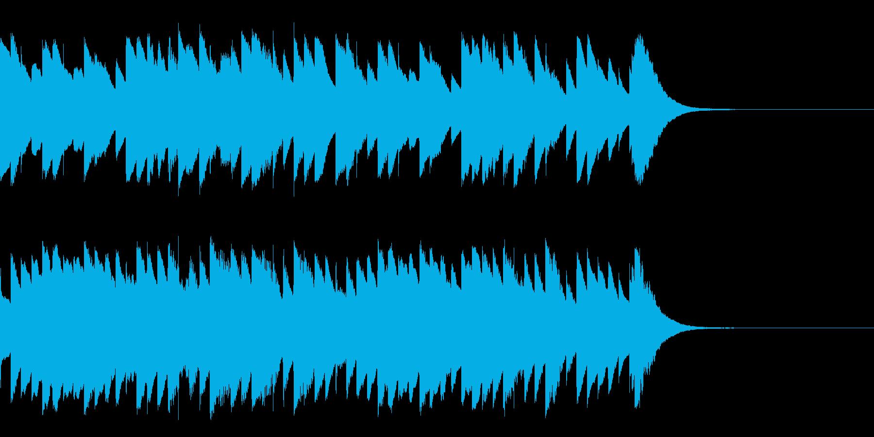 オルゴール おやすみ 冬 ジングル・ロゴの再生済みの波形