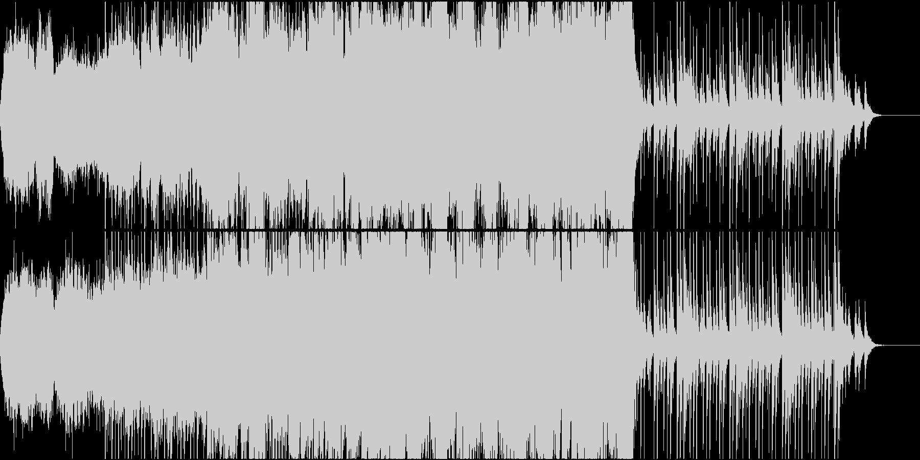和太鼓を取り入れたストリングス曲の未再生の波形